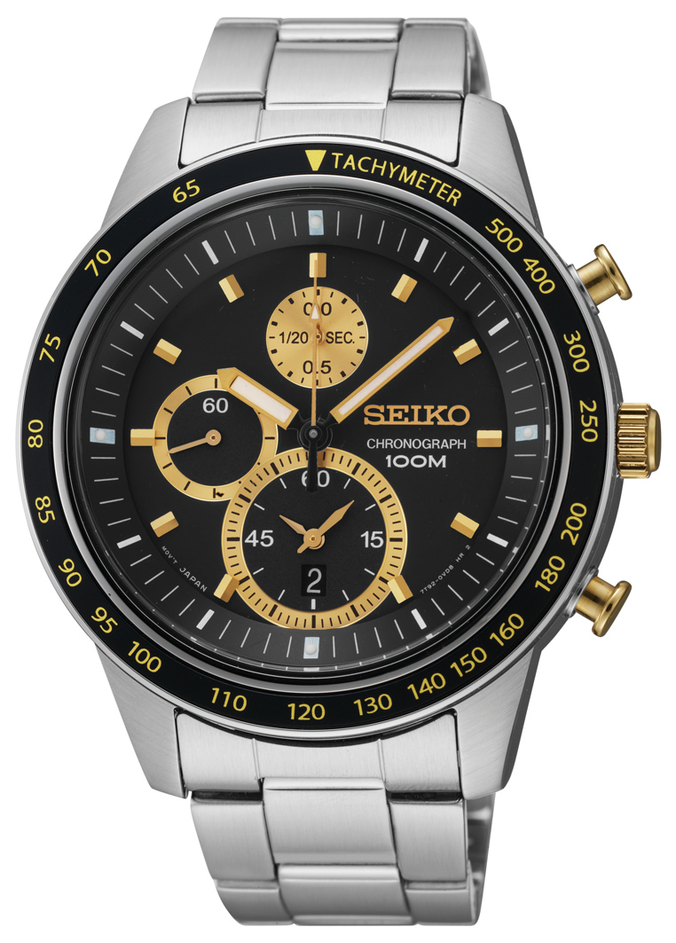 and seiko leather with square htm watches chronograph s watch black strap men dial grey p wholesale